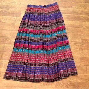 Chaus Pleated Boho Maxi Skirt - Size 10